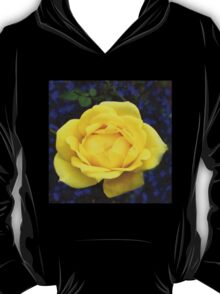Dreamy Yellow Rose and Purple Lobellia T-Shirt