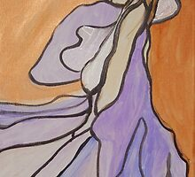 Pale Dancing Woman, Abstract Modern Art  by ShiningEyeArts