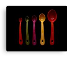 Five Measuring Spoons Canvas Print