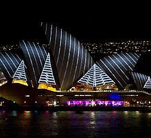 Pirate Sails - Sydney Vivid Festival - Australia by Bryan Freeman