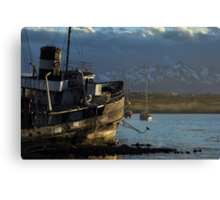 Golden Boat of Ushuaia Canvas Print