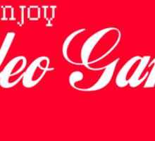 Enjoy Video Games Sticker