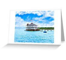 Vintage Alabama - Mobile Yacht Club - Monroe Park Greeting Card
