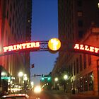 Printers Alley at Night by Debbi Tannock