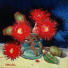 Flowering Gum Blossoms Still Life by Margaret Stockdale