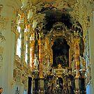 In the Wieskirche, Upper Bavaria, Germany by Priscilla Turner