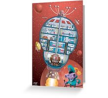 Blast off aboard the Starship Ramshackle Greeting Card