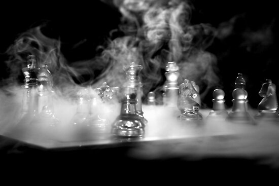 Ghost of a sailor playing chess - Actual shot unedited by Earl McCall