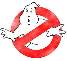 Ghostbusters - No Ghost logo Retro Photographic Print