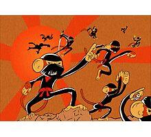 Attack of the 10 Ninja Monkey Fury Showdown! Photographic Print