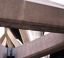 The Transamerica Building - concrete supports  by Michael Bisset
