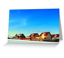Village and winter sun reflections | landscape photography Greeting Card