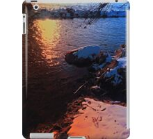 Winter evening down by the river | landscape photography iPad Case/Skin