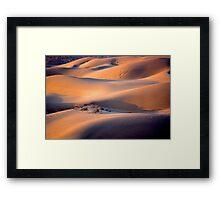 The dunes of Taar désert Framed Print