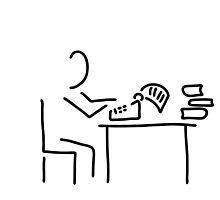 author typewriter by lineamentum