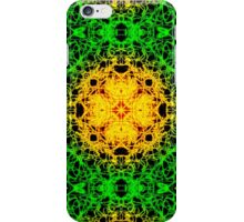 """""""Spirit of India: Cross-Column"""" in grass green and yellow iPhone Case/Skin"""