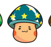 The Mushroom Friends Sticker