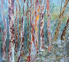 Colour and Pattern in eucalyptus  by Nikkitta