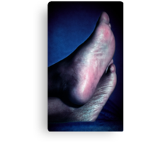 Candid Feet Relaxing Canvas Print