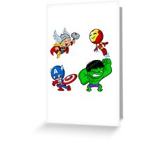 Crazy AVENGERS Greeting Card