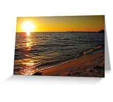 Sunset over Peace River, FL Greeting Card