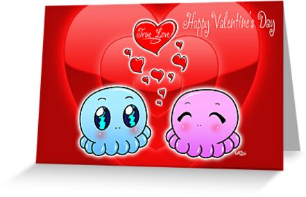 True Love: Tako-Chan V Day Card by Vestque