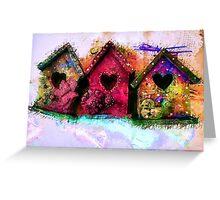 Baby Birdhouses Greeting Card