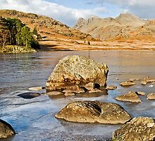 The Langdale Pikes from Blea Tarn by Steve  Liptrot
