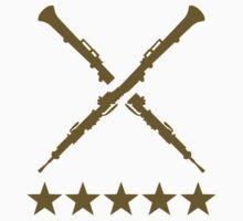 Crossed oboe stars by Designzz