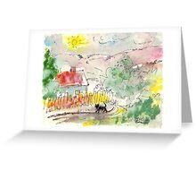 BLACK CAT HAVING SPRING WALKABOUT(C2007) Greeting Card