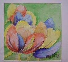 Mia 08 water colour tulip # 2 by peter238