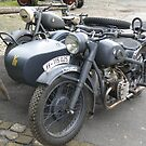 German BMW Motorbike and Sidecar by Edward Denyer