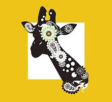 Funky Cool Paisley Giraffe  by WindUpSprout