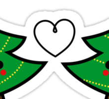 Adorable Kawaii Christmas Tree Couple Sticker