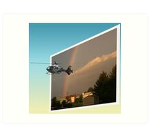 Helicopter, Out of the Box Art Print