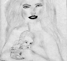 Catherine Zeta Jones & her Baby by Waleska Luker