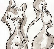 Two Nudes by Nikkitta