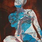 Mixed media: Nude Collograph by Marion Chapman