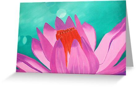 Pink Lotus by Wendy Sinclair
