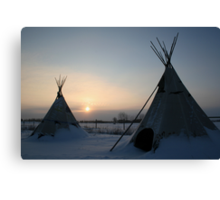 PLAINS CREE TIPI Canvas Print