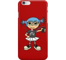 Scene Girl with MP3 Player iPhone Case/Skin