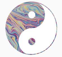 Rainbow Swirl Yin Yang by adjsr