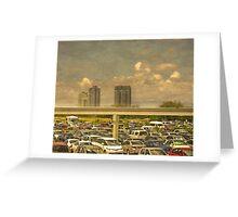 Theme Park Car Park Greeting Card