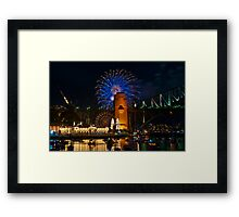 NYE 2008: 9PM Fireworks at McMahons Point Framed Print