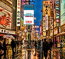 Rain in Dotonbori by Ren Atkins