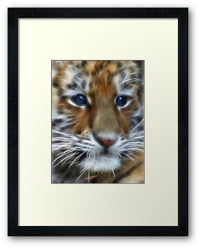 Siberian Tiger Cub by Beverly Lussier
