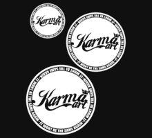 KARMA LOGO X3 ( WHITE LOGO)  by KARMA TEES  karma view photography