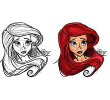 The little mermaid- Ariel Sketch by DesperateGuy