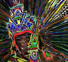 Aztec Warrior by bev langby