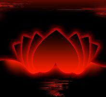 Red Love Lotus by pinak